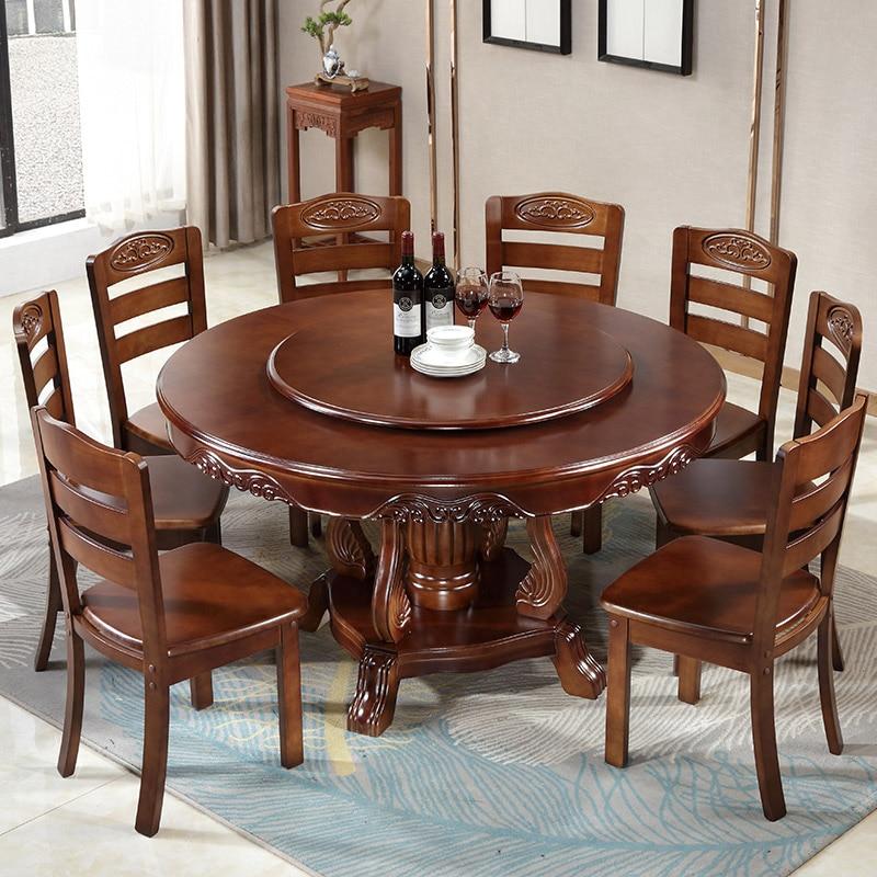 table a manger en bois massif avec plateau tournant table a manger ronde style chinois grande table ronde table a manger et chaise combinaison