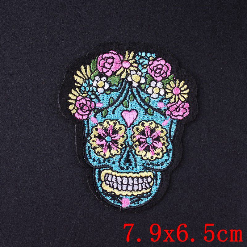 Prajna Groot Stranger Things Patch Rock Metal Patch Skull Iron On Embroidered Patches For Clothes Stripes Gremlins Applique DIY in Patches from Home Garden