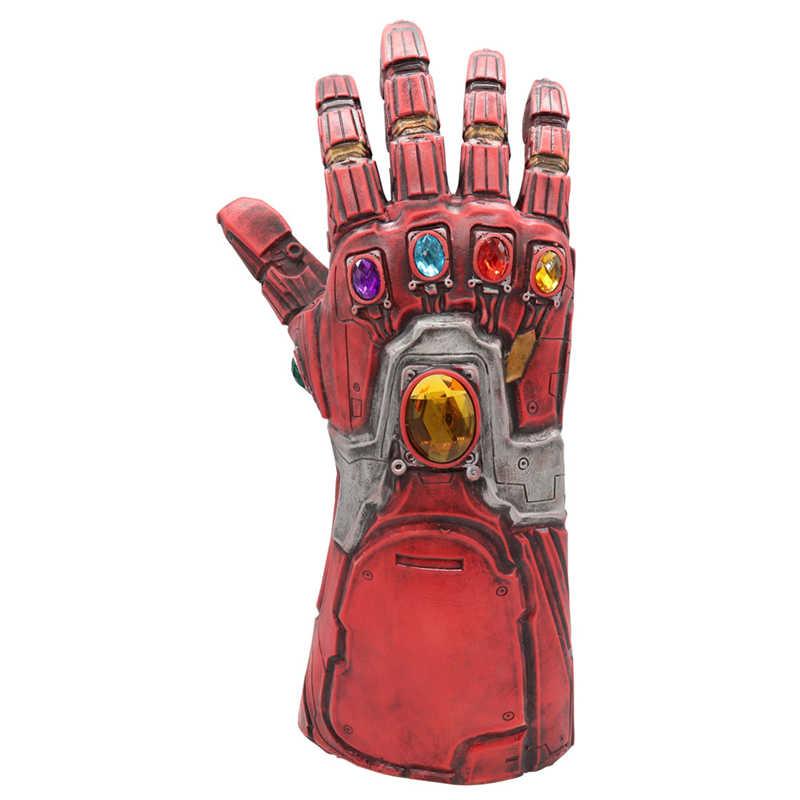 Hot 4 Người Sắt Găng Tay Trang Phục Thanos Vô Cực Nhẹ Găng Tay Siêu Anh Hùng Hulk Chống Đỡ Người Sắt LED Latx Mặt Nạ Người Lớn