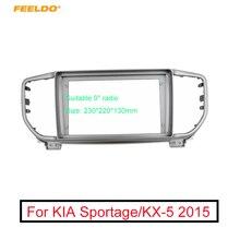 "FEELDO Auto Stereo Audio 9 ""Großen Bildschirm Fascia Rahmen Adapter Für KIA Sportage/KX 5 2DIN Dash Montage Panel rahmen Kit"