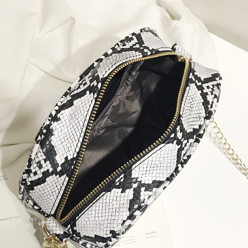 Tassel Snake Bags For Women Fashion Shoulder Bags Small Chain Messenger Crossbody Bags serpentine Leather Crossbody Flap Bag