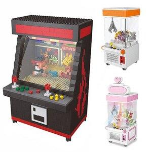Image 2 - Gratis Verzending Clasic Mini Bouwstenen Cartoon Speelgoed Fighter Game Model Ufo Clip Pop Catcher Bouwstenen Brinquedos Kid