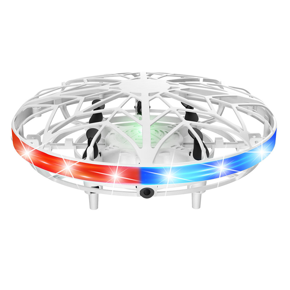 UFO Kids Adults Toy Flying Helicopter Early Education Gift Mini RC Drone Wear Resistant LED Light USB Rechargeable Hand Control