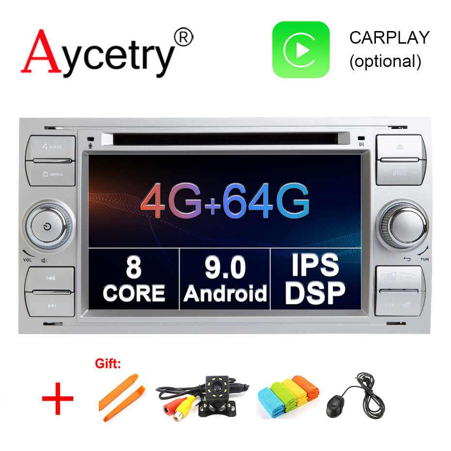 4G 64G DSP IPS 2 din Android 9 0 Car dvd Multimedia Player GPS For Ford