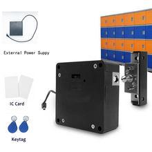 Cerradura inteligente para armario, 13,56 MHZ, IC, electrónica, oculta, RFID, para muebles, sin llave, con fuente de alimentación externa