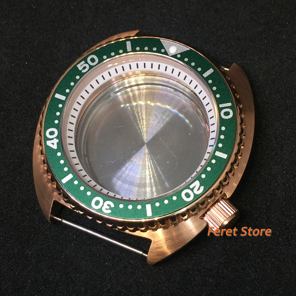 Bliger novo goutent 45mm rosa caso relógio
