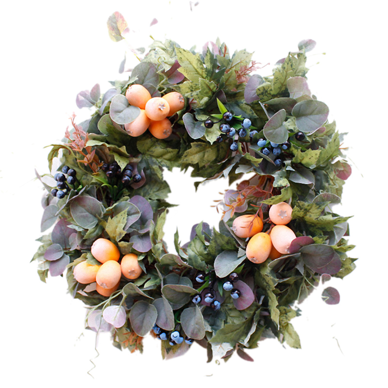 Fall Door Decoration Artificial Rattan Vine Wreath Fall Wedding Autumn Front Door Wreaths Front Door Wreath Farmhouse Decors image