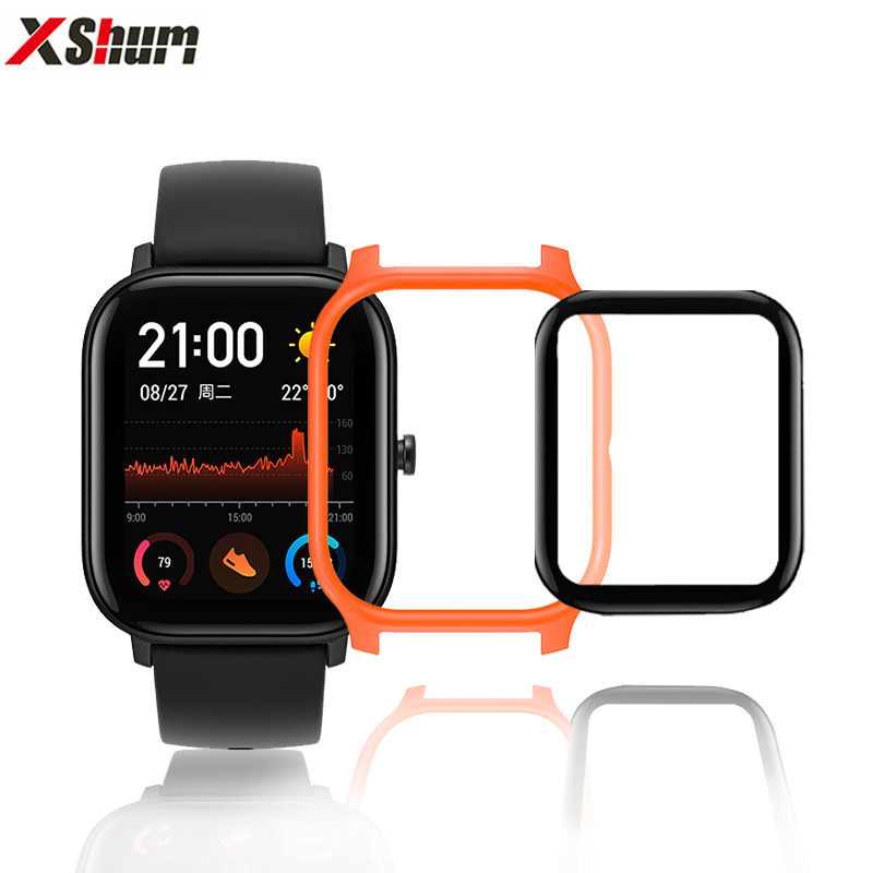 Amazfit GTS Case Protector With Film For Xiaomi Amazfit GTS Glass Accessories Bumper Screen Protection Protective Shell Case
