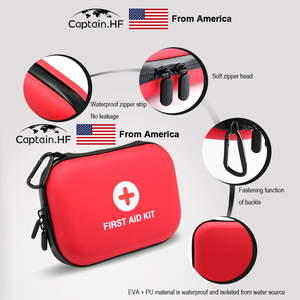 Image 3 - US Captain Estuche para botiquín de primeros auxilios, portátil viaje, medicina, paquete, bolsas de kit de emergencia, pequeño organizador divisor de almacenamiento de medicina