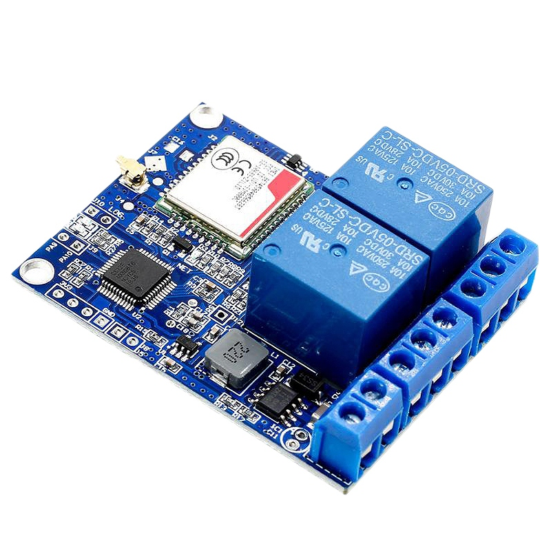 Promotion  Sms Gsm Remote Control Switch Sim800C Stm32F103C8T6 2 Channel Relay Module for Greenhouse Oxygen Pump|AC/DC Adapters| |  - title=