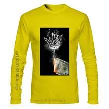 Mafioso Men'S Money To Burn Short Sleeve T Shirt White Money Smoke Burn Clothing Newest Fashion Tee Shirt
