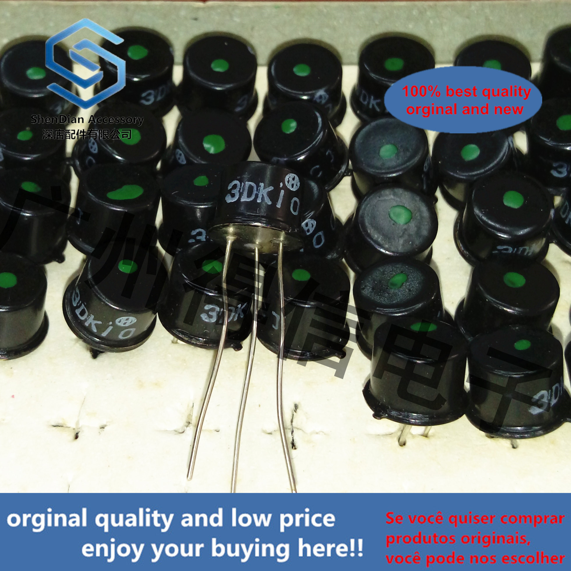 5pcs 100% Orginal New 3DK10CJ 3DK10C 3DK10 Green Dot Switch Transistor Triode Real Photo