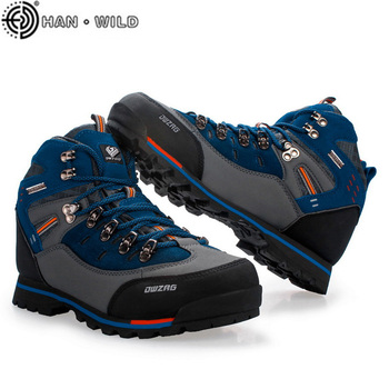 Brand Men Hiking Shoes Outdoor Mountain Climbing Boots for Botas Fashion Sport Trekking Non-slip Waterproof