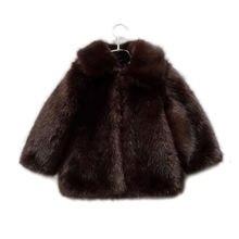 Шерстяная куртка для девочек элегантная плотная теплая из искусственного