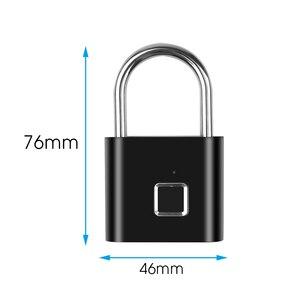 Image 3 - Portable Smart Fingerprint Lock Electric Biometric Door Lock USB Rechargeable IP65 Waterproof Home Door Bag Luggage Case Lock