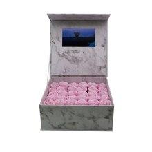 Caja de tapa dura de producción personalizada, folleto de vídeo, tarjeta de felicitación de vídeo Universal de 7 pulgadas, 2gb de visualización, caja de folletos para publicidad