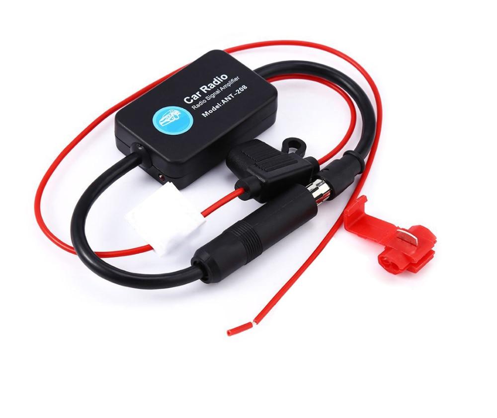 2 din 1 din Auto Radio FM Antenne Signal Amp Verstärker Booster Für Marine Auto Fahrzeug Boot 330mm FM verstärker kostenloser versand
