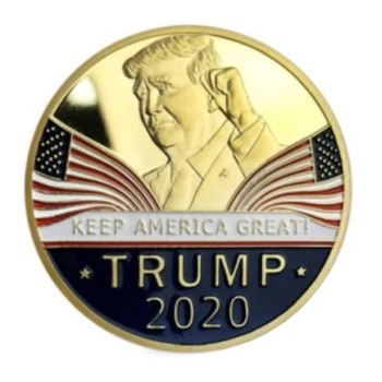 Gold Challenge Coin Commemorative America 45th President - 1pc  1
