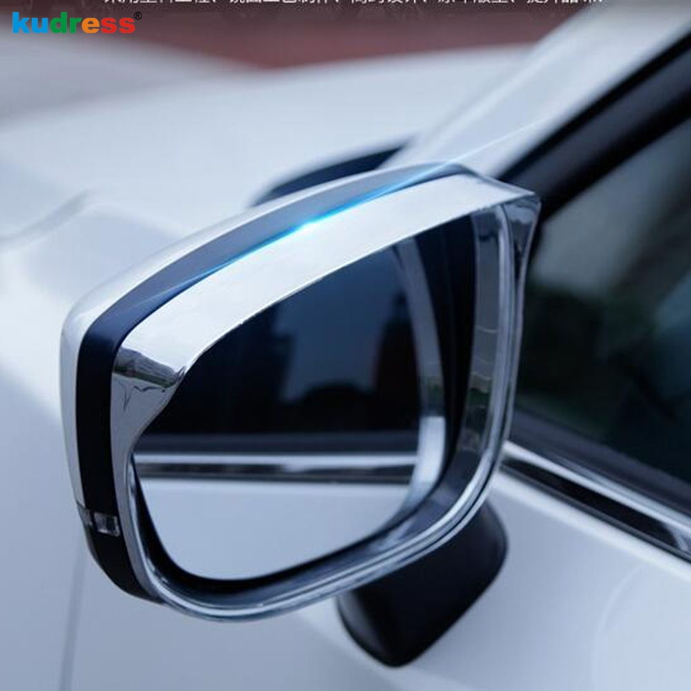For <font><b>Mazda</b></font> CX5 <font><b>CX</b></font>-<font><b>5</b></font> KF 2017 <font><b>2018</b></font> 2019 2020 ABS Chrome Door Mirror Rain Snow Guard Rearview Mirror Rain Visor Eyebrow <font><b>Accessories</b></font> image