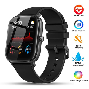 ZKCREATION 1.4 inch Screen Fit Bit P8 Smart Watches Wristband Fitness Bracelet Men Smartwatch Blood Pressure Tracker for Women