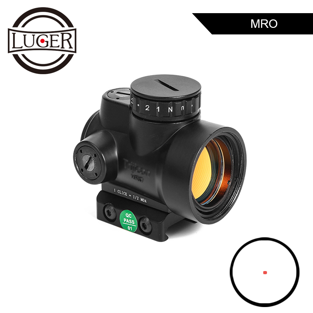 MRO Red Dot Sight Hunting Range Built-in Adjustable Holographic Sight Scope 20mm Rail Mount Optical Sight For Hunting Airsoft