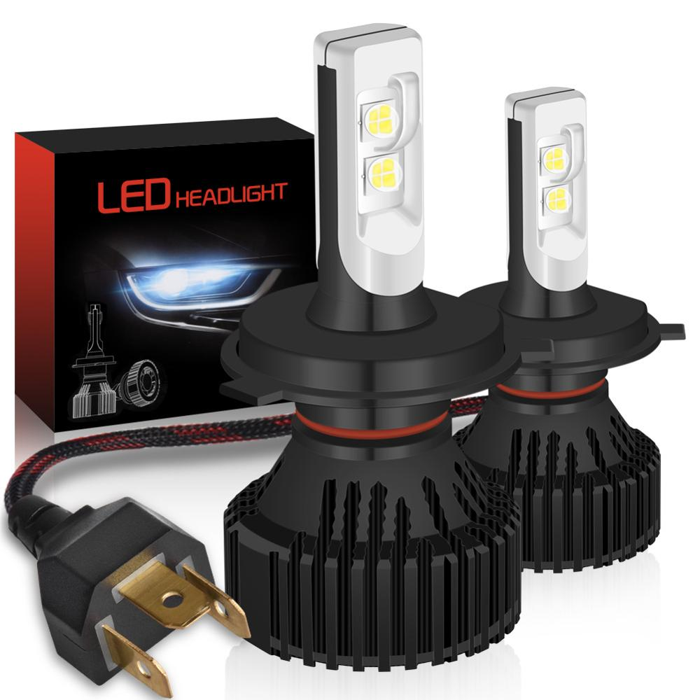 2 шт. светодиодный H4 H11 H8 9005 9006 H9 HB3 9003 9012 Canbus головной светильник лампы для фар светильник 16000LM 6500K 12V 24V DC авто лампа без радио Шум