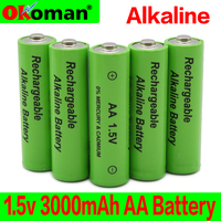 2~20pcs/lot New Brand AA rechargeable battery 3000mah 1.5V New Alkaline Rechargeable batery for led light toy mp3 Free shipping