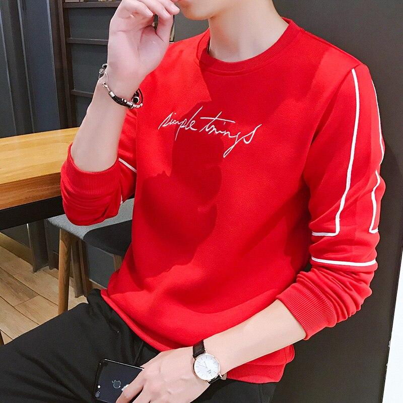 2020Casual Mens Sweatshirts Hoodies Teen Summer Hoodies Dress Coats Men Clothing Print Letter Hip Hop Hooded Male tops plus size