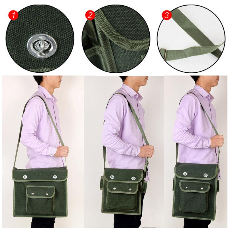 Multifunction Tool Bag 600D Double Layers Oxford Fabric Tools Storage Bag Portable Electrician Household Waist Bag For Repair