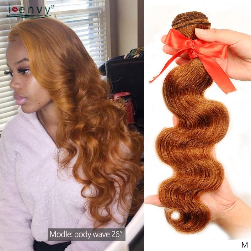 I-envy mechones de cabello humano brasileño ondulado rubio miel mechones tejidos mechones ofertas 1B 27 30 Borgoña 99J rojo Remy Paquete de cabello humano