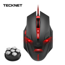 Tecknet 7000DPI Gaming Mouse 8 Programmable Makro RGB Backlight LED Light Mode Kabel MMO Mouse Komputer(China)