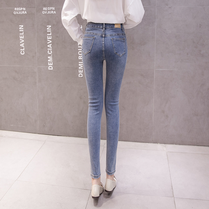 Online Celebrity Style Jeans Women's 2019 Spring New Style High-waisted-Slimming Skinny Pencil Pants CHIC Capri Pants