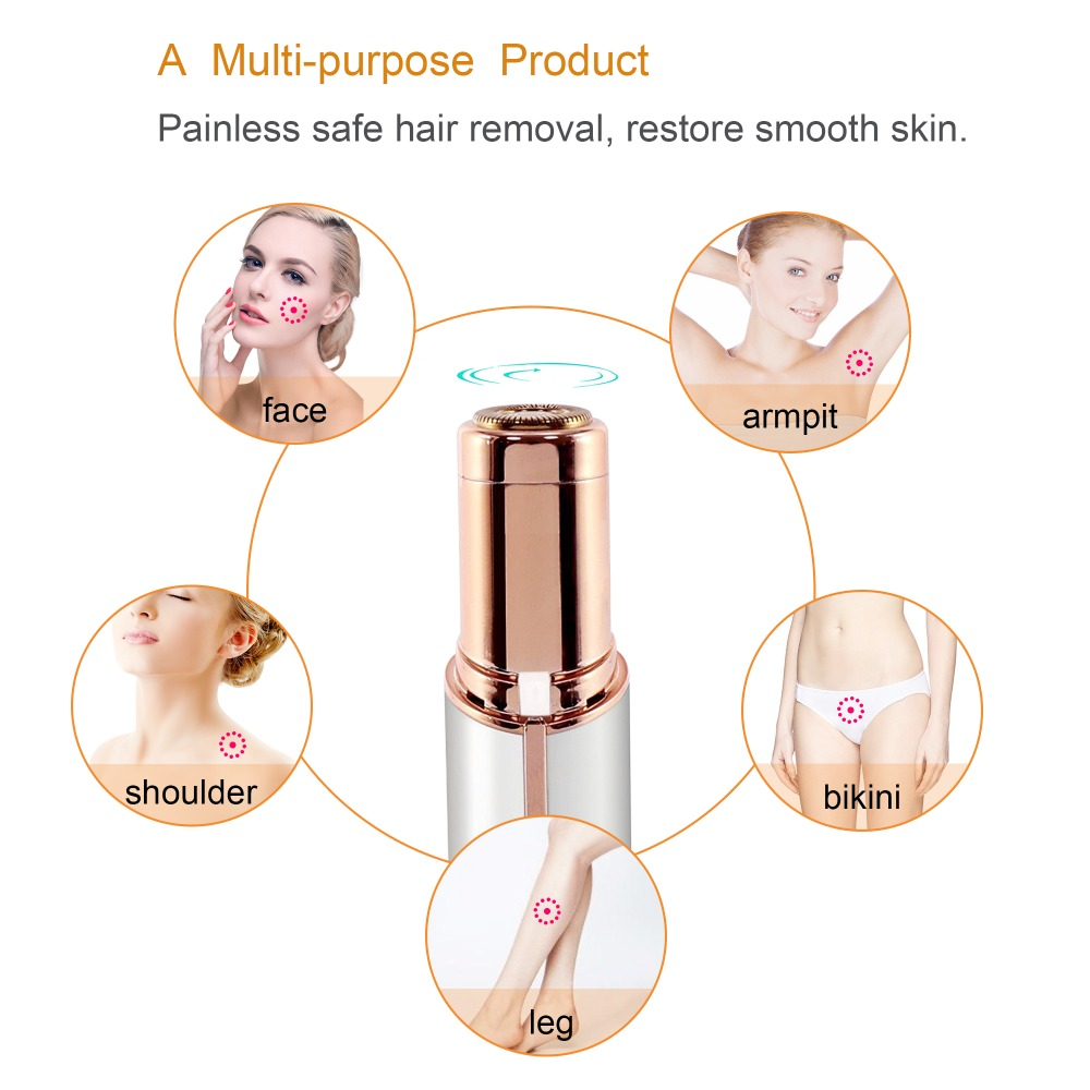 Image 3 - Mini Facial Hair Remover for Women Hair Remover Blade Heads Face Shavers Hair Removal Tool for Lip Chin Cheek-in Epilators from Home Appliances