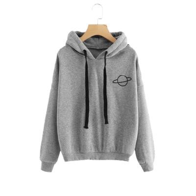 Fashion Womens Hoodies 2019 Autumn Winter Female Casual Sweatshirts Women Solid Color Sweatshirt Tops S-3XL