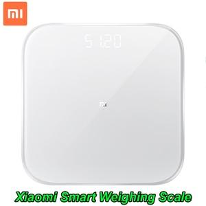 Image 1 - 100% Originele Xiaomi Smart Weegschaal 2 Gezondheid Balans Bluetooth 5.0 Digitale Weegschaal Ondersteuning Android 4.3 iOS 9 Mifit app
