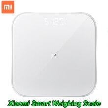 Xiaomi báscula de pesaje inteligente 2, balanza de peso Digital con Bluetooth 100%, compatible con Android 5,0, iOS 9, aplicación Mifit, 4,3 Original