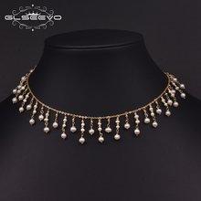 Glseevo Природный пресноводный жемчуг дизайнерский чокер ожерелье