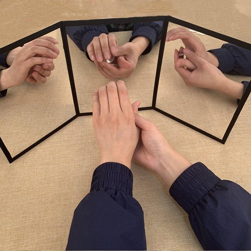 Miroir à 3 voies (taille moyenne) par Sean Yang pratique miroir carte magique Gimmick Illusions tours de magie accessoires magie de scène