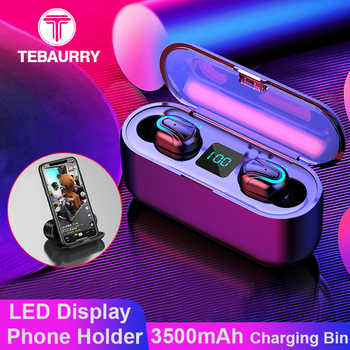 3500 mAh TWS Bluetooth Earphone 5.0 Wireless Headphones 6D Bass Stereo Mini Wireless Headset with LED Power Display Phone Holder - DISCOUNT ITEM  50% OFF All Category