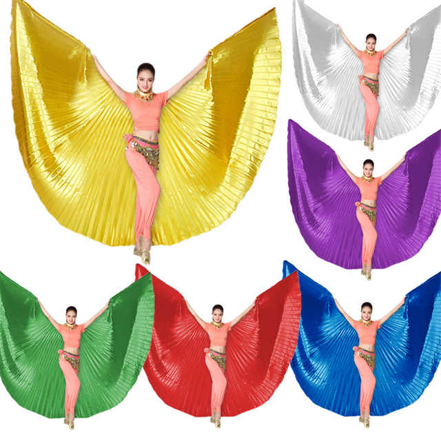 11Color Adult Belly Dance Butterfly Wings for Women Gold Bellydance Costume Accessories Indain Stage Performance Dancing Wear