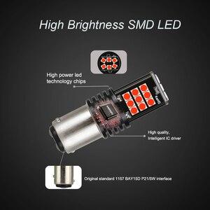 ANMINGPU 2x сигнальная лампа P21/5 Вт Led 1157 стоп резервный светильник 3030SMD Ba15s Led P21W Bau15s Bay15d Led Canbus лампа для автомобиля красный