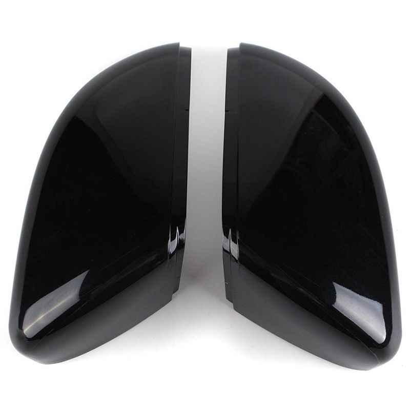 Sinistra + Destra Gloss Nero Ala Door Vista Posteriore Della Copertura Dello Specchio Per Il Vw Touran Golf Mk6