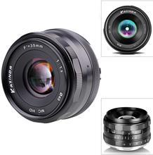Kaxinda lente de cámara de 35mm, objetivo Prime Manual Estándar para Canon EOS M M2 M3 M5 M6 M10, sin espejo
