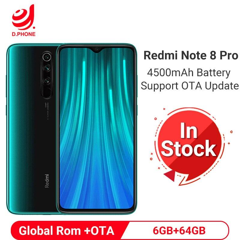 Купить Xiaomi Redmi Note 8 Pro смартфон телефон 6 ГБ 64 Гб Смартфон 64 мп четыре основные камер мобильный телефон MTK Helio G90T Восьмиядерный 4500 мАч мобильный телефо... на Алиэкспресс