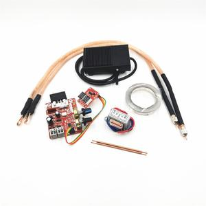 NY-D01 battery spot welding machine digital display control board 100A with spot welding pen, 9V transformer, metal foot pedal(China)