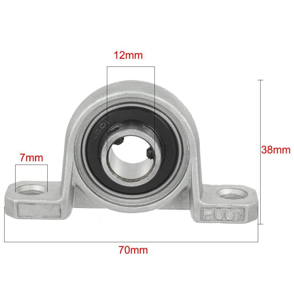 Roulement à billes en alliage de Zinc | 2 pièces, diamètre intérieur KP001 12mm, roulement à billes de métal 12MM KP001