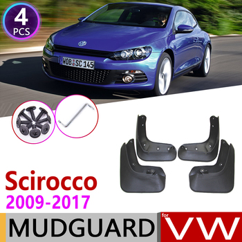 Car Mudflap for Volkswagen VW Scirocco 2009~2017 Fender Mud Guard Splash Flap Mudguards Accessories 2010 2011 2012 2013 2014 image