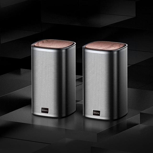 New BINNIFA Desktop Stereo Bluetooth Speaker Music Center USB Sound Card Subwoofer Speakers For The Computer Portable Soundbar 4