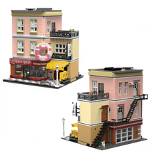 MOC City Architectural Series Model Baking House Creative Street View Building Block Toys With Figure Child Christmas Gift