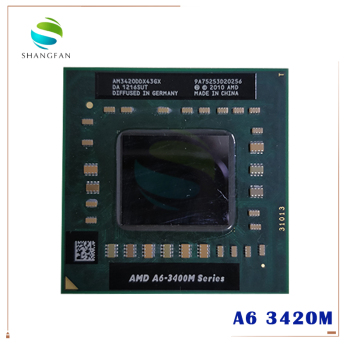 AMD Laptop Notebook CPU processor A6 3400M series A6-3420M A6 3420M 1.5Ghz/4M Socket FS1 A6 3420M AM3420DDX43GX 1